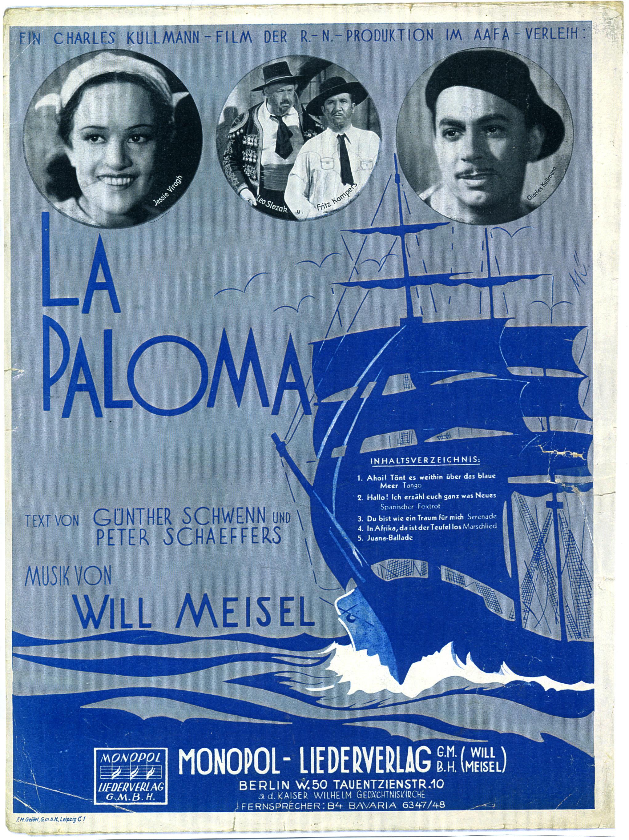 La Paloma Lied